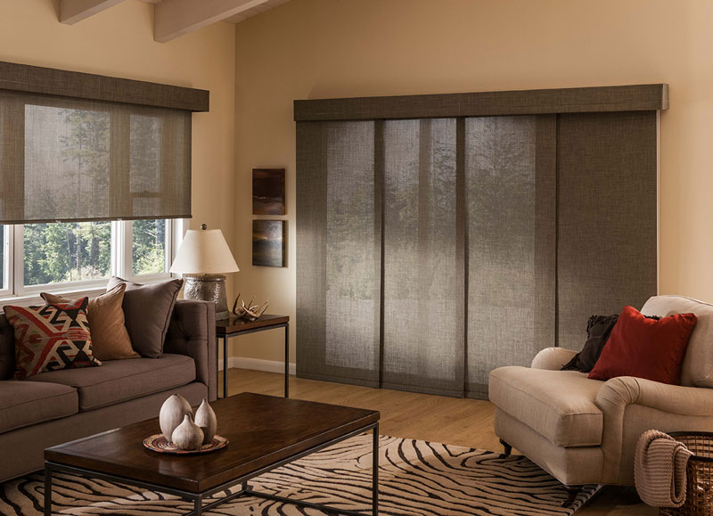 Sliding Door Coverings : Sliding panel curtains window treatments curtain