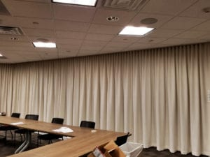 Commercial Ripplefold Drapery | Peak Window Coverings